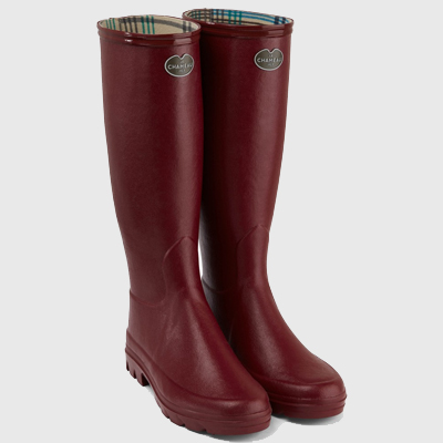 Le Chameau Women's Iris Jersey Lined Boot - Rouge
