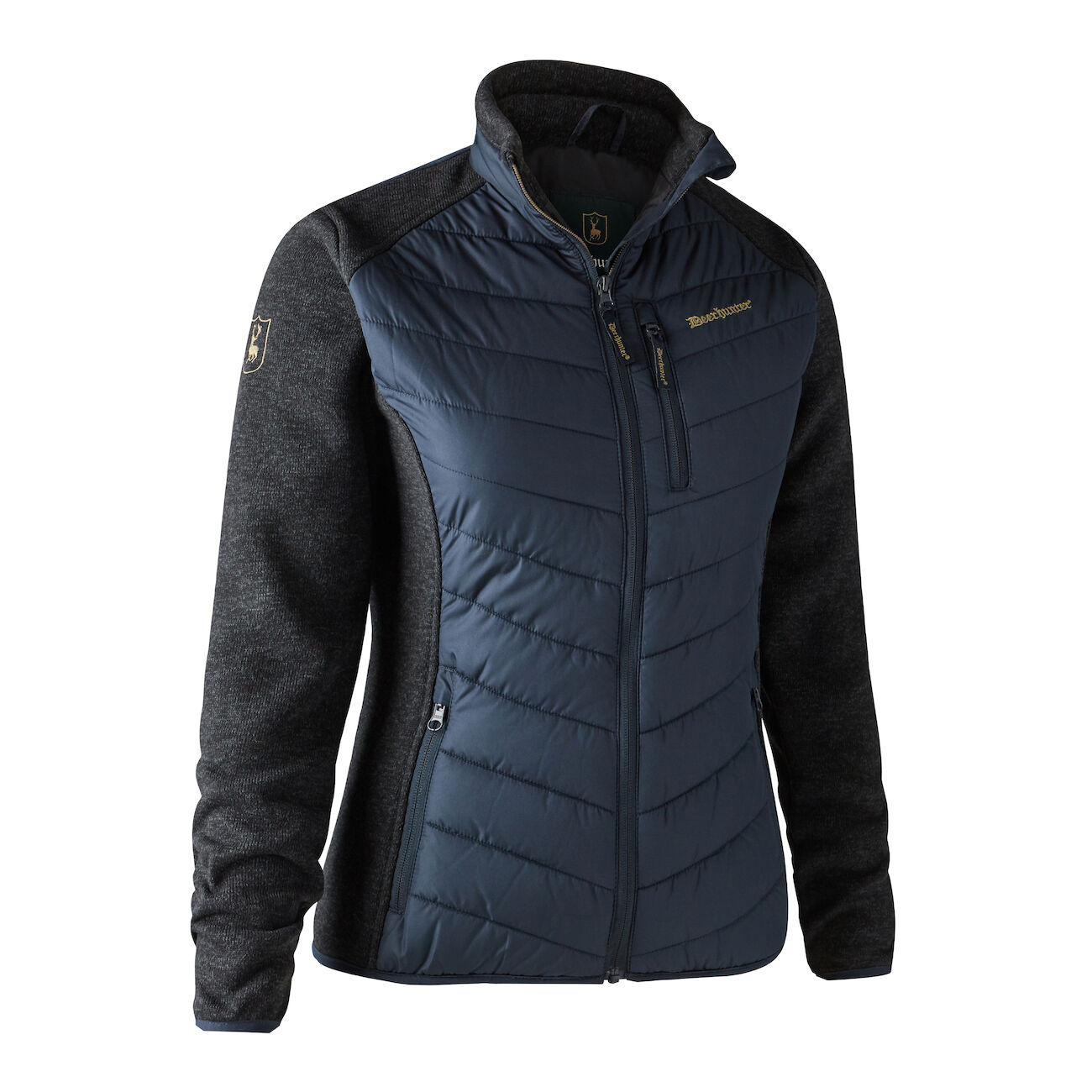 Deerhunter Lady Caroline Padded Jacket with Knit - Dark Blue