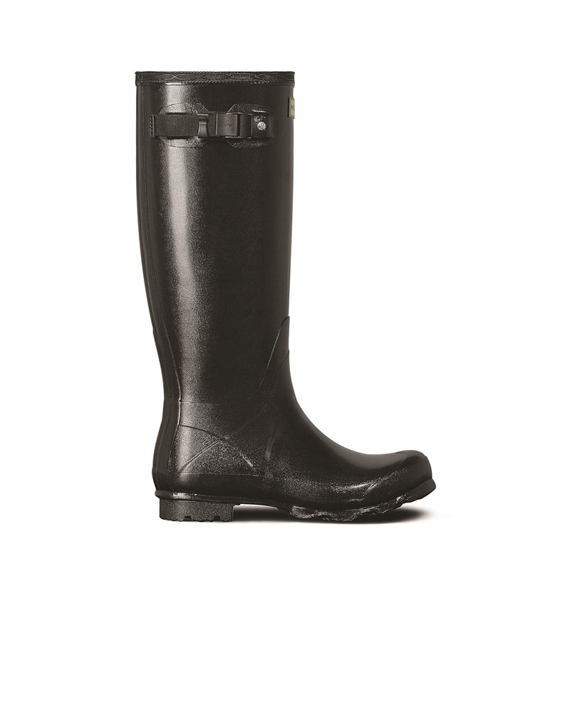 Hunter Womens Norris Field Gloss Black Wellington Boots