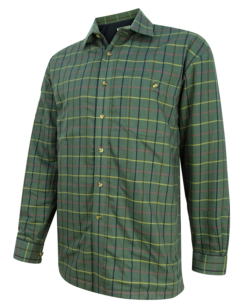 Hoggs Of Fife Beech Micro-Fleece Lined Shirt