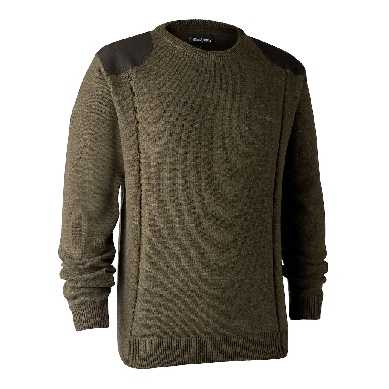 Deerhunter Sheffield Knit with O-Neck - Cypress