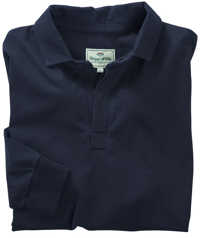 Hoggs of Fife - Premier Cotton Rugby Shirt Long Sleeve - Dark Navy