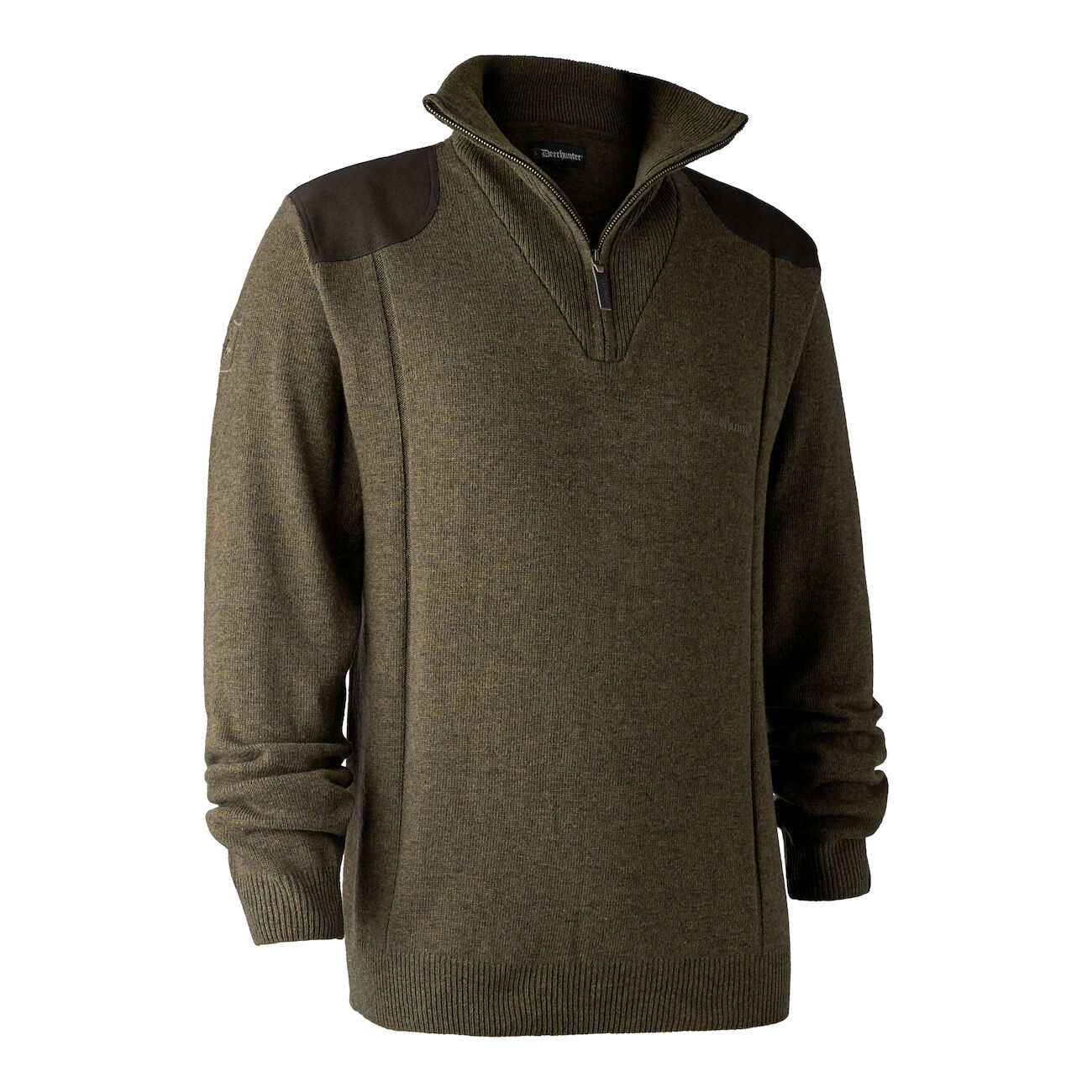 Deerhunter Sheffield Knit with Zip Neck - Cypress