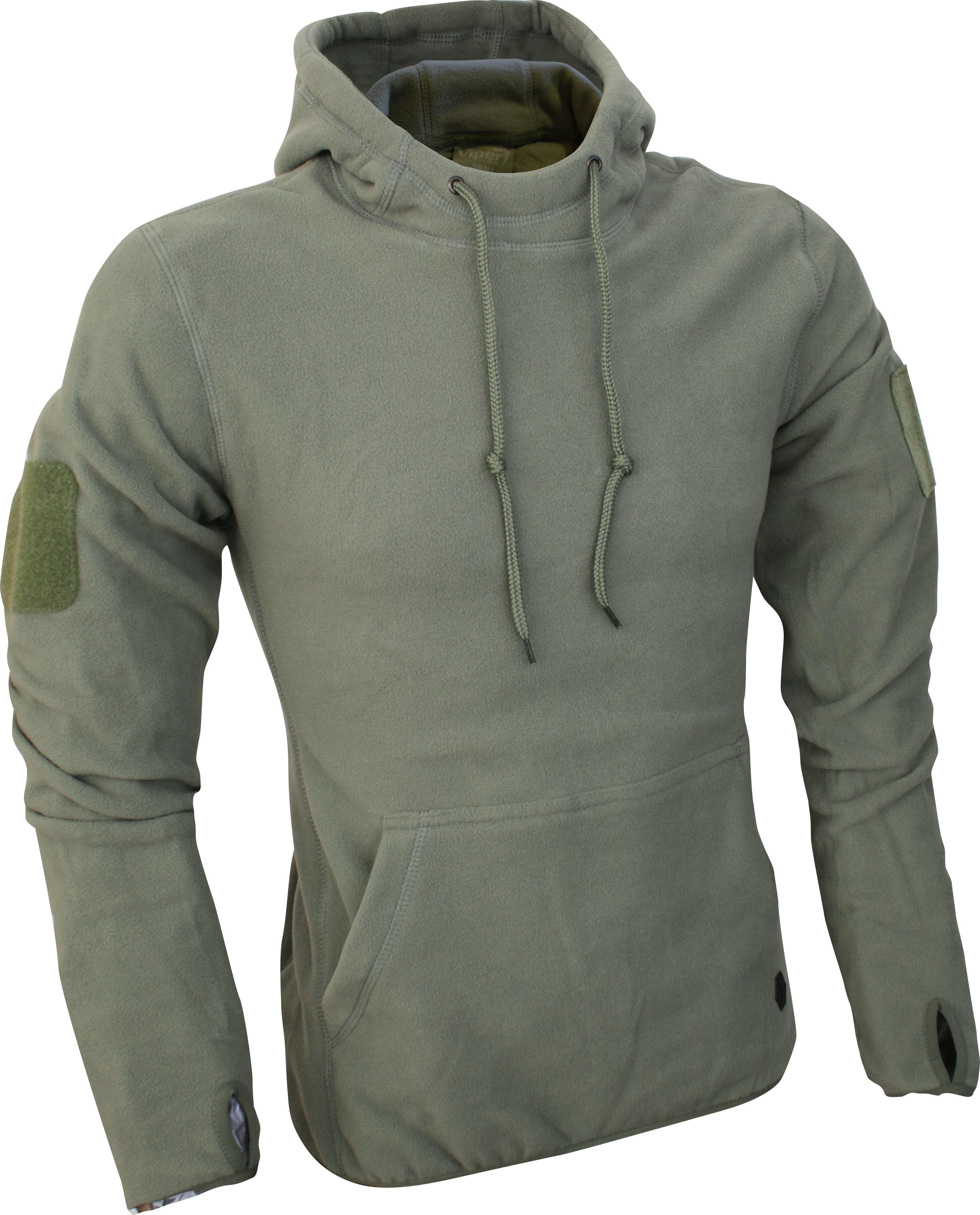 Viper Tactical Zipped Fleece Hoodie Green XX-Large