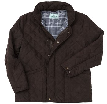 Hoggs of Fife Carlton Quilted Jacket - Dark Brown