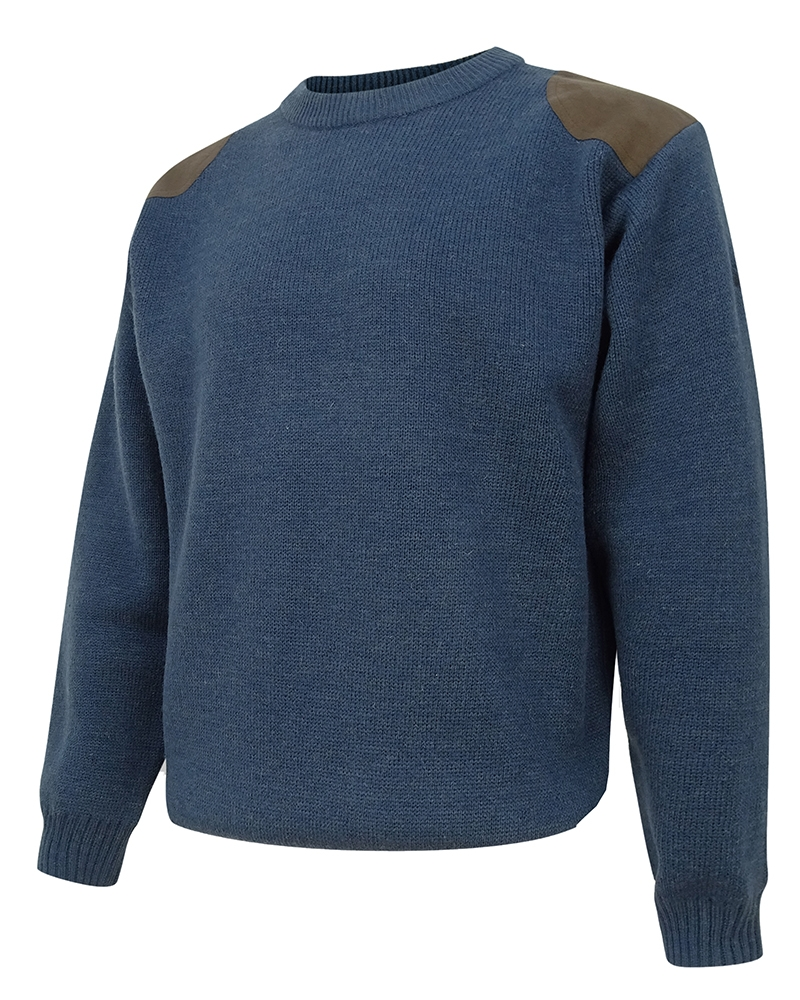Hoggs Of Fife Melrose Hunting Pullover Marled - Navy
