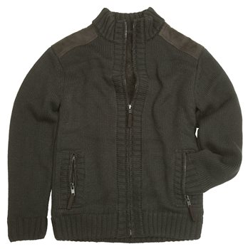 Hoggs of Fife - Orkney Mens Knitted Jacket - Green