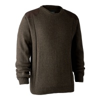 Deerhunter Sheffield Knit with O-Neck - Dark Elm