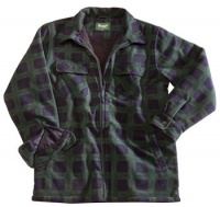 Hoggs of Fife Sutherland Fleece Shacket - Black Watch Check