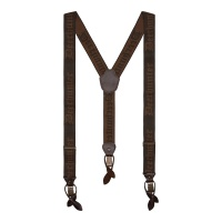 Deerhunter Combi Braces, buttons and clips - Walnut - 130 cm