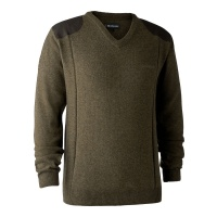 Deerhunter Sheffield Knit with V-Neck - Cypress