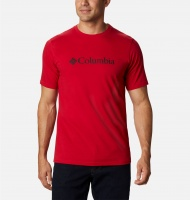 Columbia Men's CSC Basic Logo Short Sleeve - Mountain Red