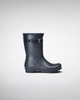 Hunter Womens Norris Field Short Wellington Boots - Navy