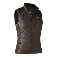 Deerhunter Lady Caroline Padded Waistcoat with knit - Brown Leaf