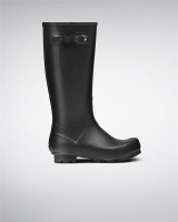 Hunter Mens Norris Field Side Adjustable Wellington Boots - Black