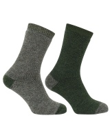 Hoggs of Fife - Country Short Socks - Tweed/Loden (Twin Pack)