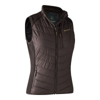Deerhunter Lady Caroline Padded Waistcoat with knit - Dark Prune