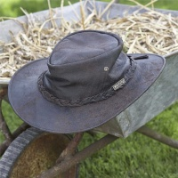 Toggi Cortes Crushable Leather Hat - Chocolate