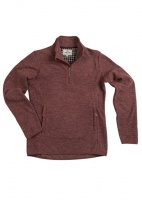 Hoggs of Fife - Woburn Ladies All Season Pullover - Marled Merlot