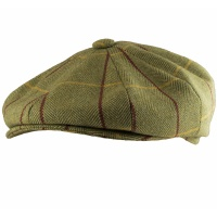 Jack Pyke Wool Blend Baker Boy Hat Tweed - Green