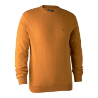 Deerhunter Kingston Knit with O-Neck - Golden Oak