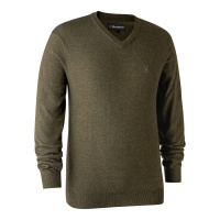 Deerhunter Kingston Knit with V-Neck - Cypress