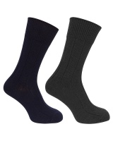 Hoggs of Fife 1906 Brogue Merino Country Socks (Twin Pack)